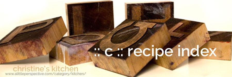:: c :: recipe index