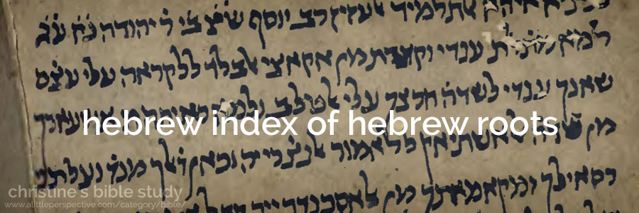hebrew index of hebrew roots | christine's bible study at a little perspective