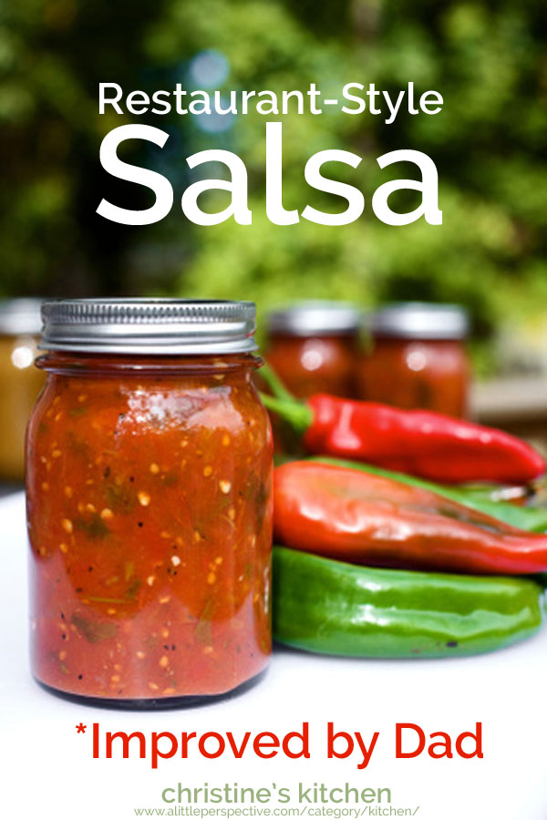 restaurant-style salsa | christine's kitchen at a little perspective
