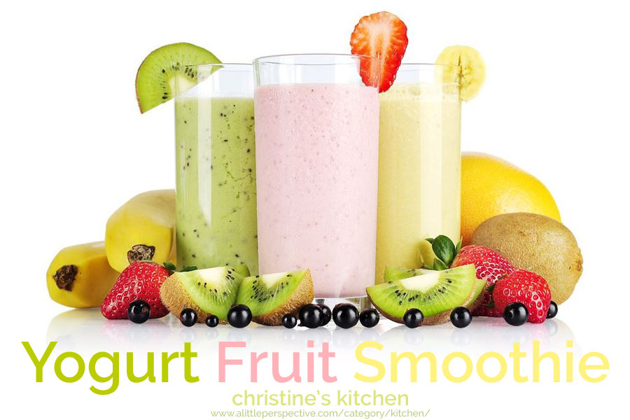 yogurt fruit smoothie   christine's kitchen at a little perspective