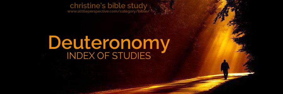 deuteronomy index of studies